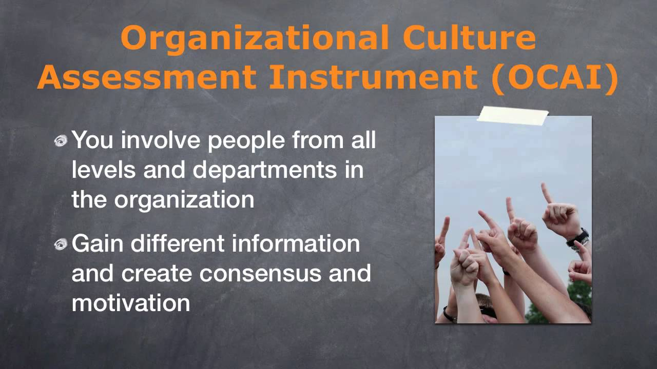 organizational culture assessment instrument template - organizational culture assessment instrument its features