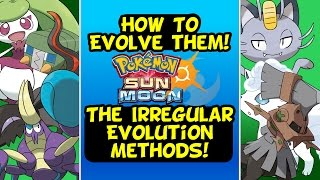 How To Evolve! Pokemon With Weird Evolution Conditions || Fomantis, Type Null and More! Sun And Moon