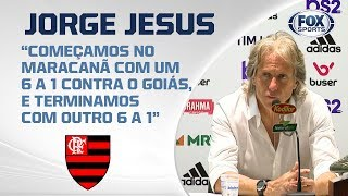PASSEIO RUBRO-NEGRO! Veja entrevista de Jorge Jesus após Flamengo 6 x 1 Avaí