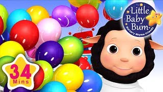 Color Song | Balloons | Plus Lots More Nursery Rhymes | 34 Minutes Compilation from LittleBabyBum!