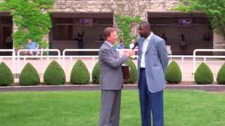 Howard Moore visits Arlington Park