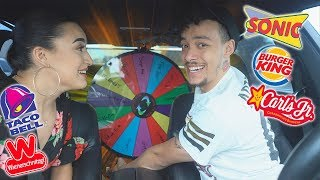 Letting The Person Infront of Us Decide What We Eat For 24 Hours! | Drive Thru Challenge