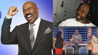 Dad Reacts to 10 Family Feud Podium Answers & Moments Steve Harvey Got Confused Or Laughed Over!