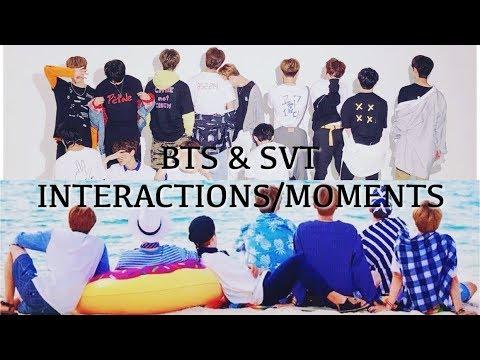 BTS AND SEVENTEEN FRIENDSHIP (pt.1)
