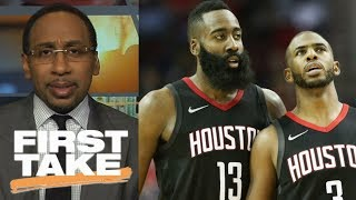 Stephen A. Smith believes in James Harden because of Chris Paul | First Take | ESPN