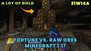 Mining Gold in New 21w14a Snapshot | Raw Gold Ore | Minecraft 1.17 21w14a