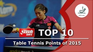 ITTF Top 10 Table Tennis Points of 2015, presented by DHS