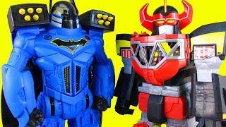 Imaginext Batbot Xtreme Robot Battles Power Rangers Megazord + Batman Joker Skatboard Dude Kids Toys