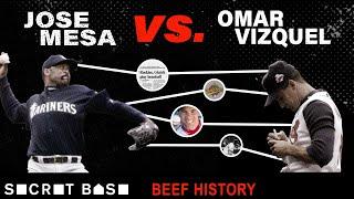 Jose Mesa got mad at Omar Vizquel, then threw baseballs at him for 5 years | Beef History