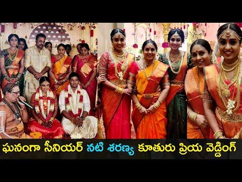 Senior actress Saranya's daughter Priyadarshini wedding, photos go viral