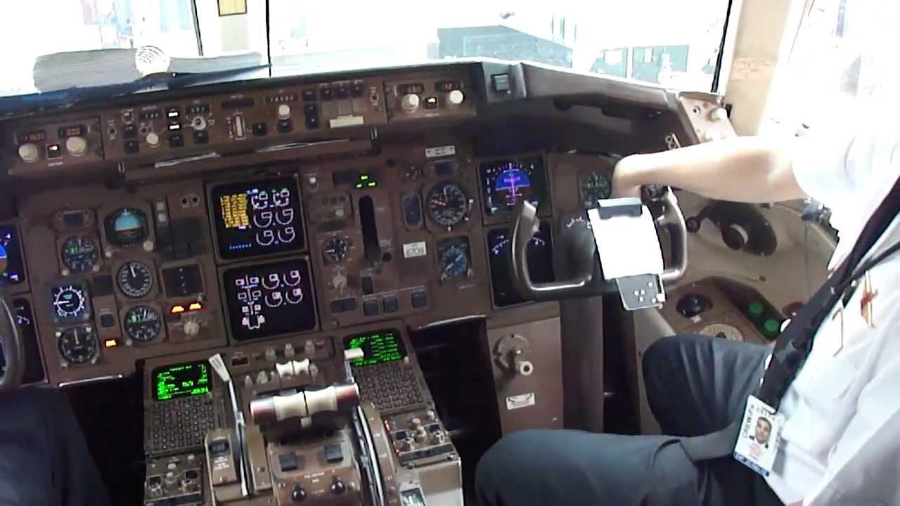 Delta Airlines Boeing 757 200 Cockpit In Atlanta Youtube