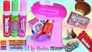 Unboxing Magical LIP BALM Mixer Turns Candy into LIP BALM! Ring POP Bubblicious FUN DIP! FUN