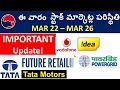 VodafoneIdea stock, Tata Motors stock,  Power grid stock, future retail stock, stock market analysis