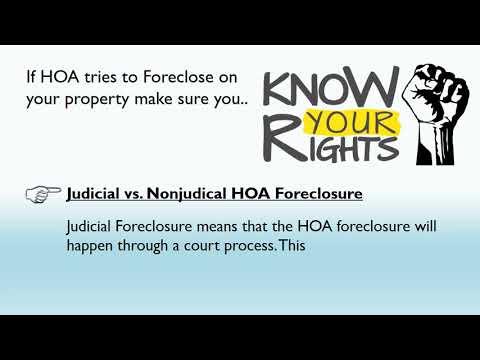 HOA Foreclosure?