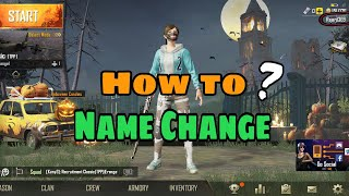 Pubg mobile How to #Name change