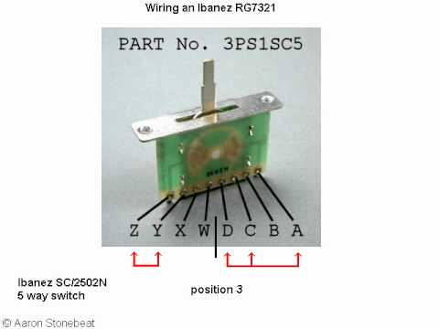 basic guitar electronics xvi - wiring of an ibanez rg7321 ... nighthawk guitar wiring diagram guitar wiring actual