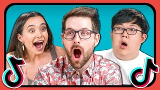 YouTubers React To And Try Tik Tok Challenges (Git Up, Assumptions, Time Traveler)