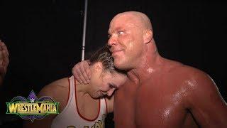 Ronda Rousey celebrates her WrestleMania debut with Kurt Angle: Exclusive, April 8, 2018