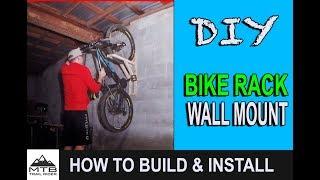 How to Build a Bike Rack // Easy DIY Vertical MTB Storage