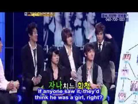 [ENG] 080526 Yunho talked about Heechul & his Ex-GF