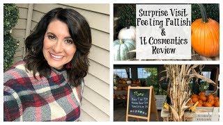 Lauren's Vlog:  Surprise Visit, Feeling Fallish, & IT Cosmetics Review!
