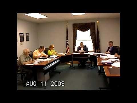 Champlain Town Board Meeting 8-11-09
