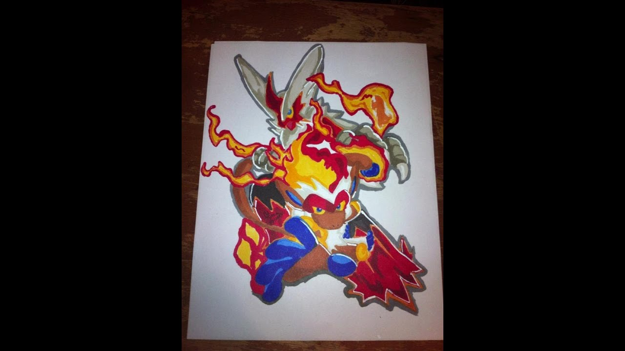 Copic Marker Speed Color Pokemon Mega Blaziken And