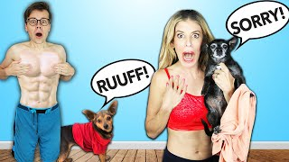 If Your Dog Barks You Have To REMOVE A LAYER OF CLOTHING Challenge - PawZam Dogs