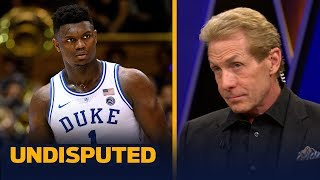 Skip Bayless: It's too soon to put Zion Williamson in the LeBron or KD category   CBB   UNDISPUTED