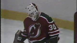 October 24 1987 Devils at Islanders Bryan Trottier Takes Stick To Face and Scores Anyway