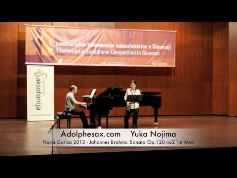 Yuka Nojima - Nova Gorica 2013 - Johannes Brahms: Sonata Op 120 no2 1st Mov