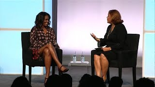Former First Lady Michelle Obama speaks at Obama Foundation Summit in Chicago