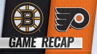Couturier, Hart power Flyers past Bruins, 4-3
