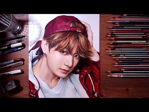 BTS : JungKook - colored pencil drawing | drawholic
