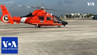 US Coast Guard Air Station Miami prestages for Hurricane Florence