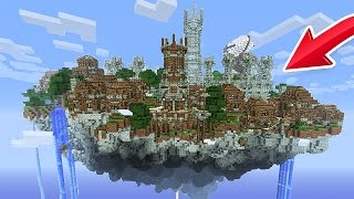 BUILDING A SKY CITY! (Minecraft Skyblock)