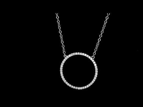 Browns Family Jewellers Circular Diamond Pendant