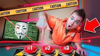 GAME MASTER CHALLENGE! Box Fort Prison Underground Maze Escape Room (Hacked By Project Zorgo)