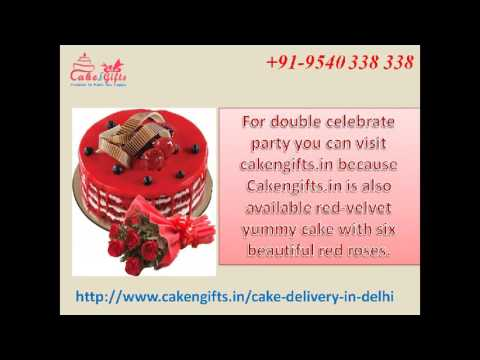 Online cake delivery services in Delhi via CakenGifts.in
