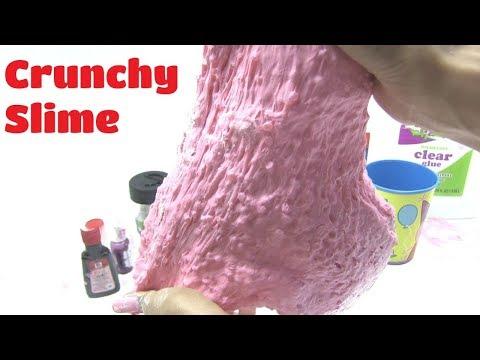 Thử Làm Crunchy Slime (Slime giòn) xem công thức làm slime giòn - bí đỏ