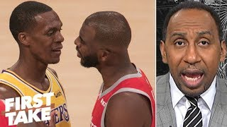 Rajon Rondo 'tried to get away with' spitting at Chris Paul during fight - Stephen A. | First Take