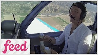 Ross Lynch Takes Piloting Lessons!