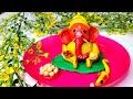 మా పాప చేసిన వినాయకుడు, పసుపు కుంకుమ ఇలా అన్నీ ఇంట్లో ఉండేవాటితోనే..Easy Ganesha idol making at Home