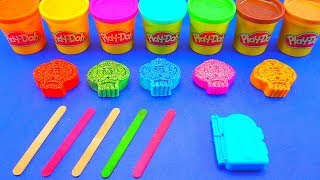 Making 5 Glitter Ice Creams out of Play Doh | Finger Family Song