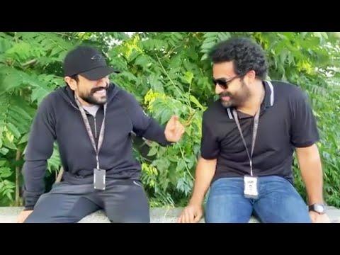 Ram Charan, Jr NTR's funny moments from RRR shooting spot goes viral on social media