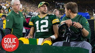 Packers fans 'holding their breath' after Aaron Rodgers injury   Golic & Wingo   ESPN