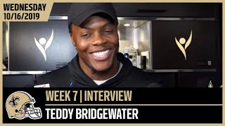 Teddy Bridgewater Talks Tough Bears D Ahead of Week 7 | New Orleans Saints Football