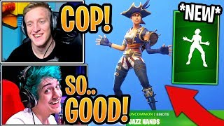 Tfue BUYS & Streamers React to the *NEW* Jazz Hands Emote! - Fortnite Moments