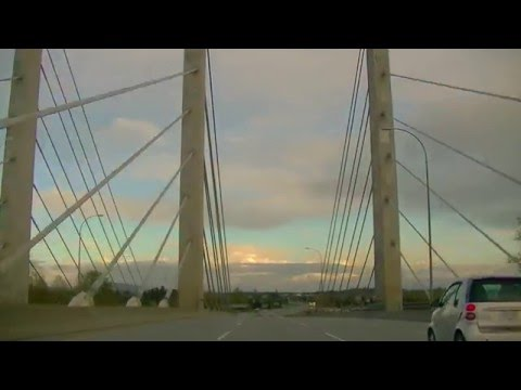Driving to Maple Ridge BC CANADA from Vancouver - Trans-Canada Highway Drive