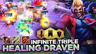 THIS MAKES DRAVEN INVINCIBLE! TRIPLE HEALING WITH NEW RUNAANS  HURRICANE! | Teamfight Tactics